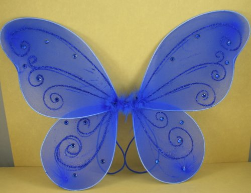 Royal Blue Butterfly Fairy Costume Wings 17