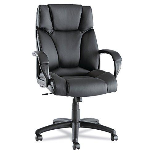 Alera ALEFZ41LS10B Fraze Series High-Back Swivel/Tilt Chair, Black Leather by Alera