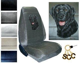 Amazon Seat Cover Connection Black Labrador Print 2 High Back