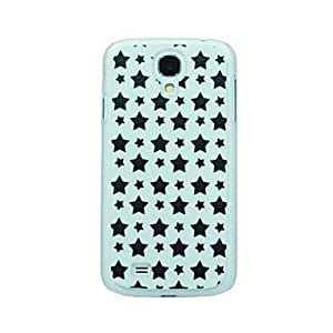 SOL Black Five Pointed Star Pattern Hard Case for Samsung Galaxy S4 I9500