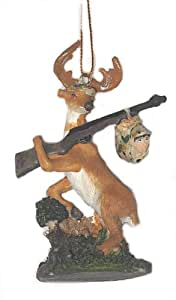 DEER Hunter rifle HUNTING Christmas tree Ornament NEW