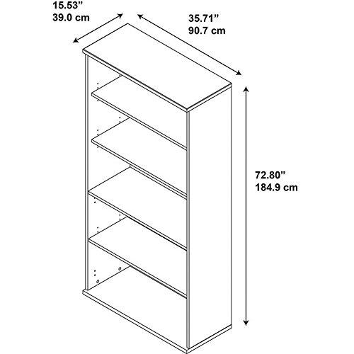 042976244149 - Series C 36W 5 Shelf Bookcase carousel main 3
