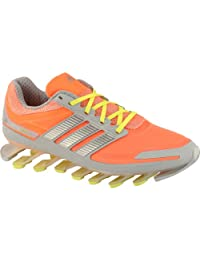 adidas Womens Springblade Running Shoes - Size: 12, Grey/orange