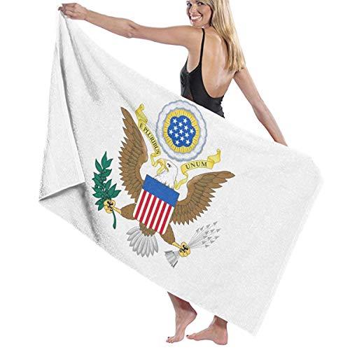 リラックスした種類ミントビーチバスタオル バスタオル アメリカ国旗の紋章 スポーツ 海水浴 旅行用タオル 多用途 おしゃれ White