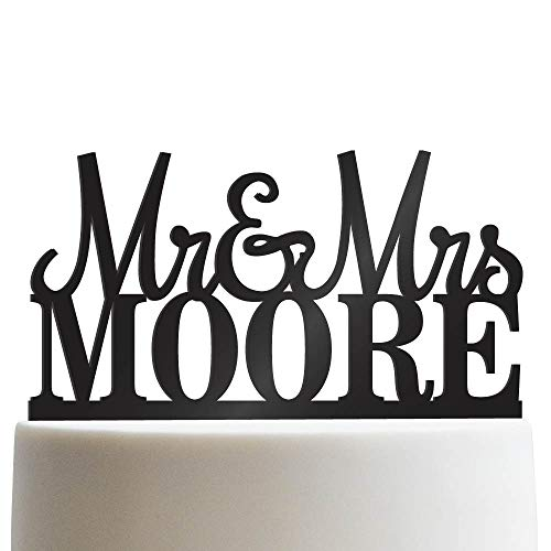 Custom Personalized Mr & Mrs Wedding Cake Topper With Your Last Name Acrylic Cake Topper for Special -