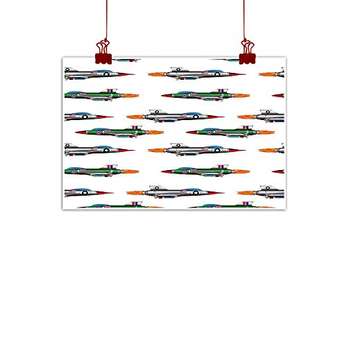 Modern Tapestries Collection - Home Wall Decorations Art Decor Airplane,Collection of Jet-Planes Aviation Attack Modern Technology United Kingdom Model,Multicolor 32