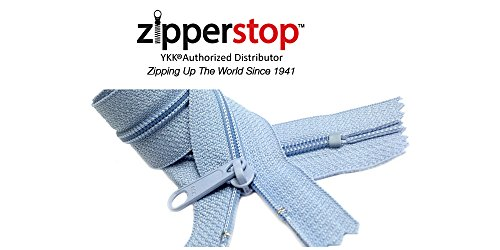 Zipperstop Wholesale YKK 14 Inch Hottest Colors Spring/ Summer 2015 Colors YKK #4.5 Handbag Zippers – Extra-long Pull Closed Bottom -5pcs Each Color (546 - Sky Blue)