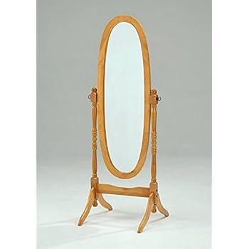 Amazon.com: Wooden Cheval Floor Mirror, Oak Finish: Home & Kitchen