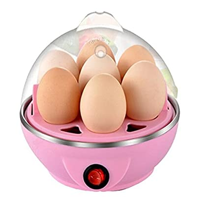 SOSA Stainless Steel Electric 7 Egg Poacher for Steaming, Cooking, Boiling and Frying, Multicolour