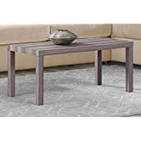 Mainstays Durable Parsons Coffee Table, Rustic Oak
