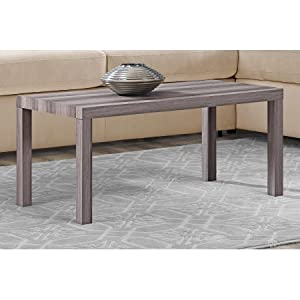 Ordinaire Mainstays Durable Parsons Coffee Table, Rustic Oak