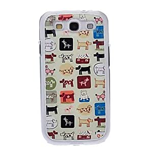 LIMME Cartoon Animals Drawing Pattern Neutral Stiffiness Silicone Gel Back Case Cover for Samsung Galaxy S3 I9300
