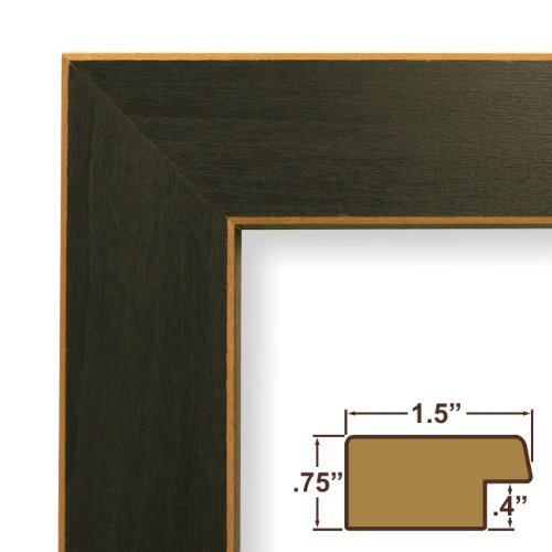 """18x25 Poster Frame, Wood Grain Finish, 1.5"""" Wide, Blue, .093"""" Acrylic, Foamcore (276BL)"""