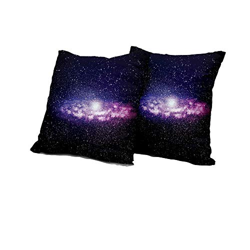 All of better Wheelchair Cushion Cover Galaxy,Nebula Cloud in Milky Way Infinity in Interstellar Solar System Design Print,Purple Dark Blue Sofa Pillow Covers 14x14 INCH ()