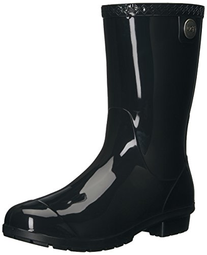 UGG Women's Sienna Rain Boot, Black, 7 B US ()