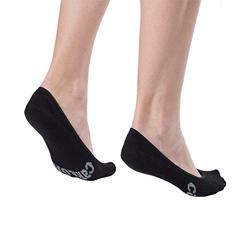 Womens Bamboo No Show Socks by Cariloha - No-slip Heel - High Cut No Show Design