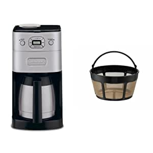 Amazon.com: Cuisinart DGB-650BC Grind-and-Brew Thermal 10-Cup Automatic Coffeemaker and Filter ...