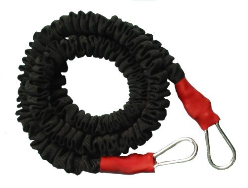 TAP Bungee Cord with Padded Resistance Belt, Red, 10-30-Feet