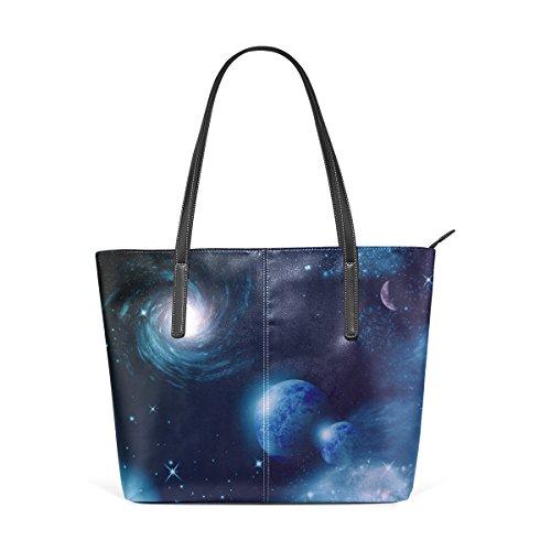COOSUN Universe PU Leder Schultertasche Handtasche und Handtaschen Tasche für Frauen 6Nb7jx