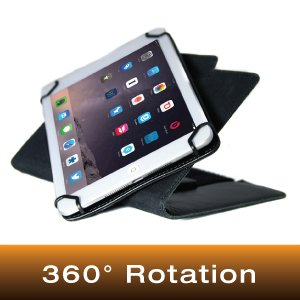 MYGOFLIGHT iPad Folio C Kneeboard for 12.9'' iPad/Tablet with 360° Rotation (Black, Leather) by MYGOFLIGHT (Image #1)