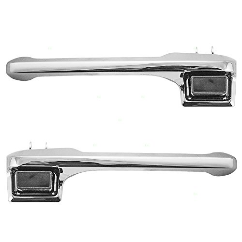 Drivers Outside Front Chrome Door Handle Replacement for Ford Pickup Truck Bronco E7TZ1522405A E7TZ1522404A AutoAndArt ()