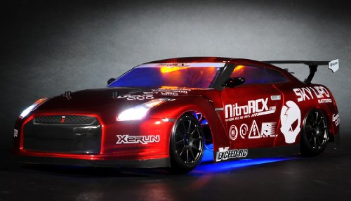 Exceed RC 2.4Ghz MadSpeed Drift King Brushless Edition 1/10 Electric Ready to Run Drift Car w/ LED Head Lights (Red)