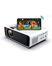 SOTEFE® Mini Video-Beamer - WiFi Video Beamer 1080P Full HD Video Projector For Smartphone iPhone/Samsung/Hauwei usw -Projektor Kompatibel mit TV Stick,TV-Box,HDMI,USB,TF/SD-Karte,VGA,AV-Audio