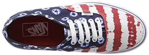 Vans Womens Authentic American Flag Blue Red Canvas Trainers 39 EU