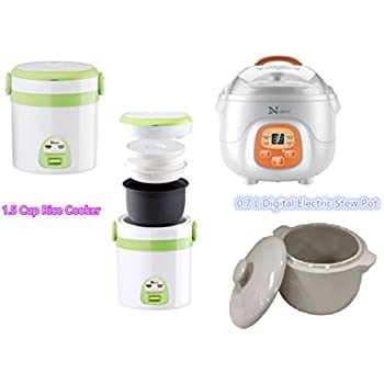 Amazon.com: HNDTEK COMBO SET 1.5 Cup Rice Cooker And Mini