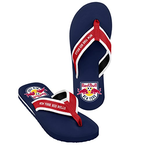 Forever Collectibles MLS New York Red Bulls Men's 2013 Contour Flip Flop, Medium, Red by Forever Collectibles