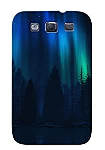 New Style Trolleyscribe Aurora Borealis Over Forest Premium Tpu Cover Case For Galaxy S3 wangjiang maoyi