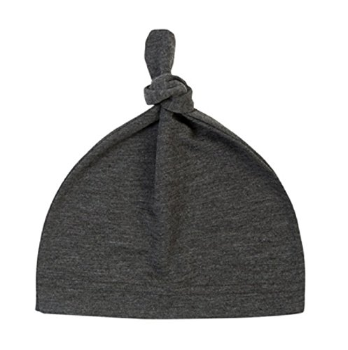 Hot Sale! Baby Beanie Cute Newborn Toddler Beanie Infant Boys Girls Cotton Knot Sleep Hats baby products (Length: 35cm/13.77, Dark Gray)