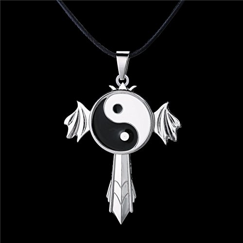 usongs Anime Hinata Hyuga Tai Yin and Yang symbol necklace pendant jewelry rotatable