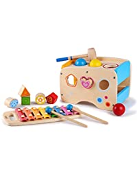Pound A Ball Game with Slide Out Xylophone and Shape Sorter Blocks - by Kids Destiny BOBEBE Online Baby Store From New York to Miami and Los Angeles