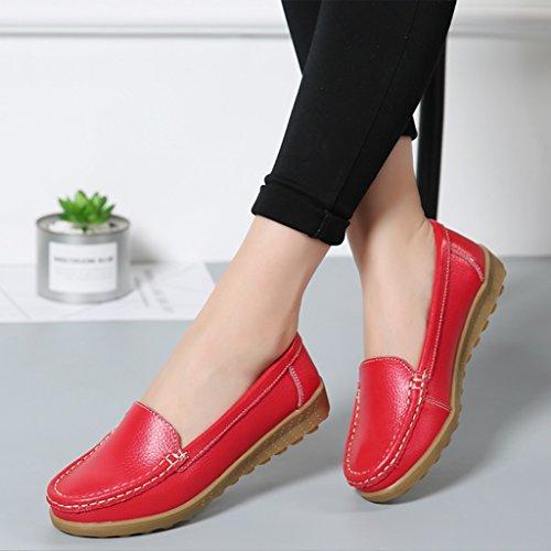 Hwf Rosso Femminile Scarpe Donna Nero Dimensioni Primavera Lounger colore 39 Peas Shoes SqTq56