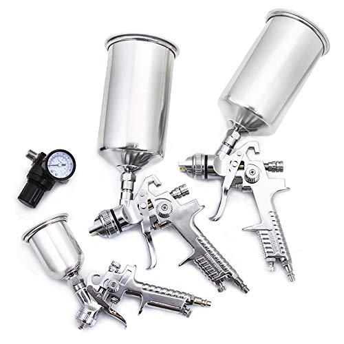XtremepowerUS 4PC Professional HVLP Air Spray Paint Gun Set Gravity Car Auto Painting Kit Set