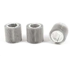 3 piezas de 32 mm de diámetro exterior de 17,5 mm Altura 30mm LED disipadores de calor de la lámpara aleta de enfriamiento