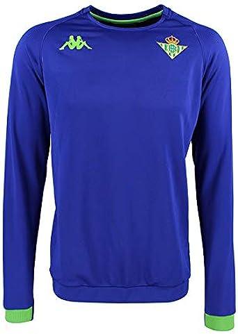 Sudadera de entrenamiento - Real Betis Balompié 2018/2019 - Kappa Aldren 2 Sweat - Azul - Niño: Amazon.es: Ropa y accesorios