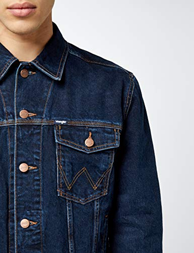 Jacket Black Blublue Western Wrangler Uomo Blue BlackGiacca Auth TJuFlK5c31
