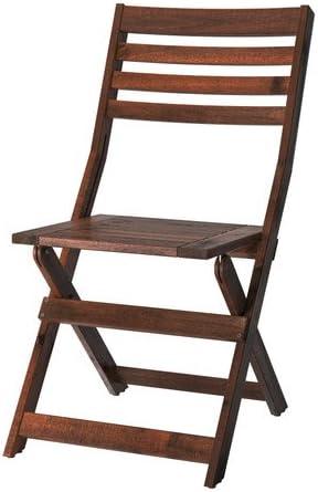 Sedie Pieghevoli Da Giardino Ikea.Ikea Applaro Sedia Pieghevole Marrone Amazon It Casa E Cucina