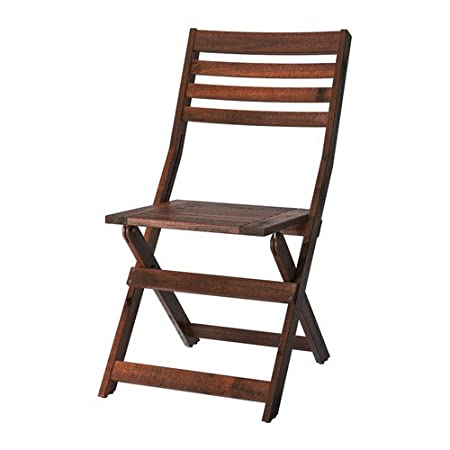 Amazon.com: Ikea Applaro Chair Outdoor Brown Foldable ...