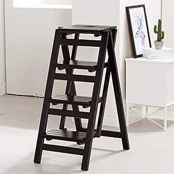 Sillas plegables Escalera de madera Taburete 2/3/4 Pasos ...