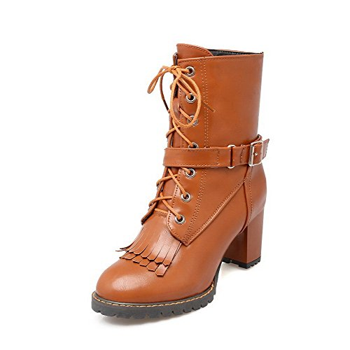 Solid Boots BeanFashion tassels Yellow Adornment Materials Toe Women's with Blend Closed CBwXw6qH