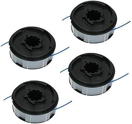 Spares2go - Juego de 4 bobinas de hilo y carrete para recortadora ...