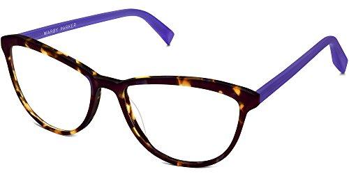 Warby Parker Louise 8252 Glasses Violet Magnolia With Voilet Temples - Glasses Temple Measurement