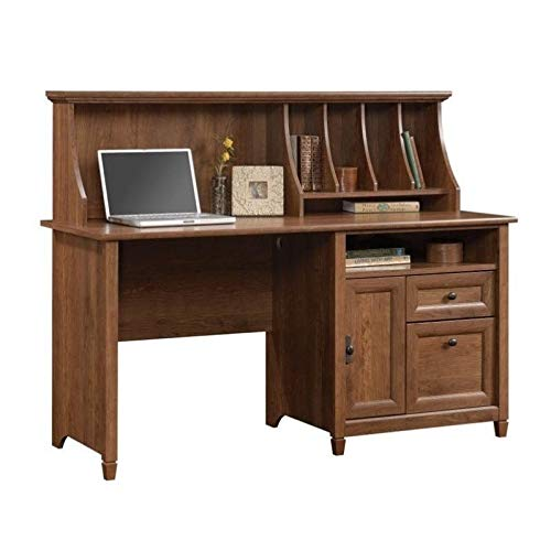 Sauder 419401 Edge Water Computer Desk With Hutch, L: 59.06