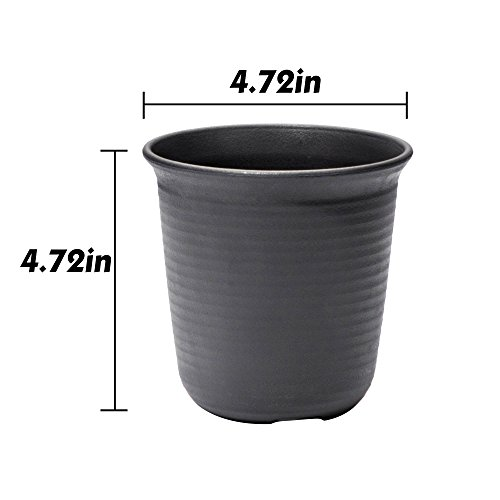 10-Packs 4.6Inch Plastic Plants Flower Seedling Nursery Pot Brown Seed Starting Pots - Light Weight - Washable - Rusable Cactus Succulent Plant Pot Container Planter by Goldblue (Image #1)