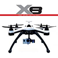 New Flying 3D X8 6 Axis 2.4G 8CH GPS RC Quadcopter RTF & Mode = Mode 2