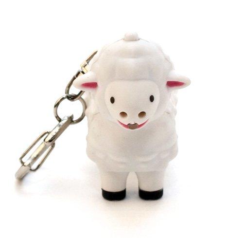 Kikkerland KRL22TC Sheep LED Keychain with Sound (Led Keychains)