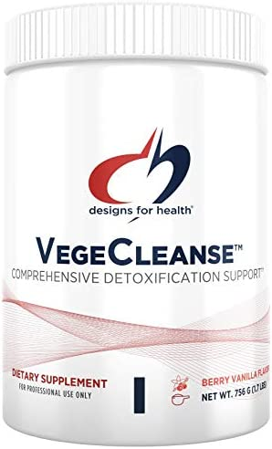 Designs for Health VegeCleanse – Berry-Vanilla Pea Protein Detox with 14g Pea Protein VegeCleanse 21 Servings 756g